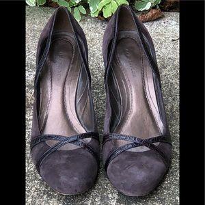 Ann Taylor Suede Eggplant Heels